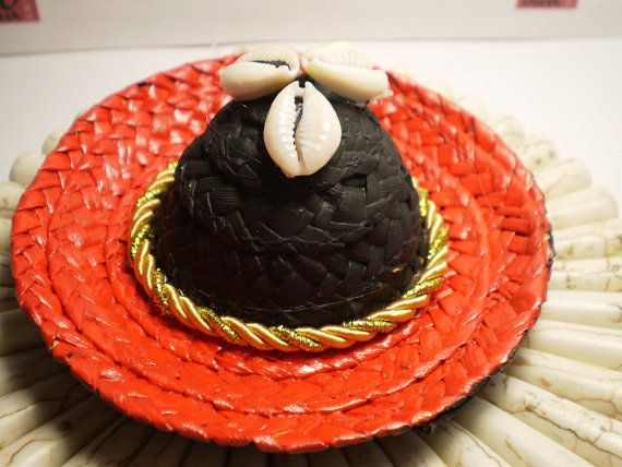 Black and Red Little Hat for Elegua Santeria Ifa by OshaDesigns, $8.99