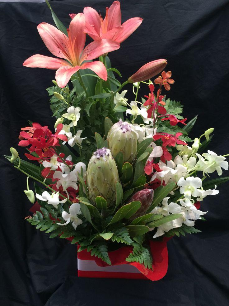 Protea, orchids & Lilies