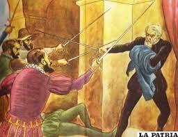22 - El asesinato de Pizarro a manos de los almagristas se consumó el 26 de junio de 1541, bajo el pretexto de que el marqués quería asesinar a Almagro el Mozo.
