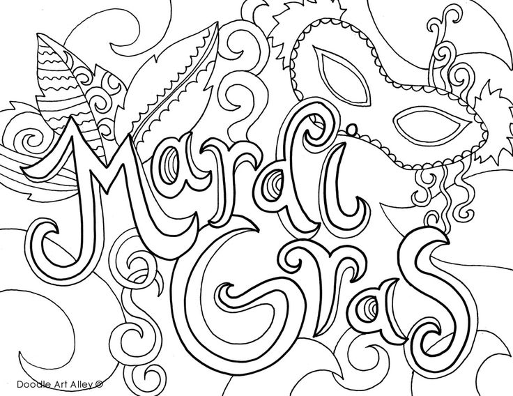 mardi gras coloring pages-#18
