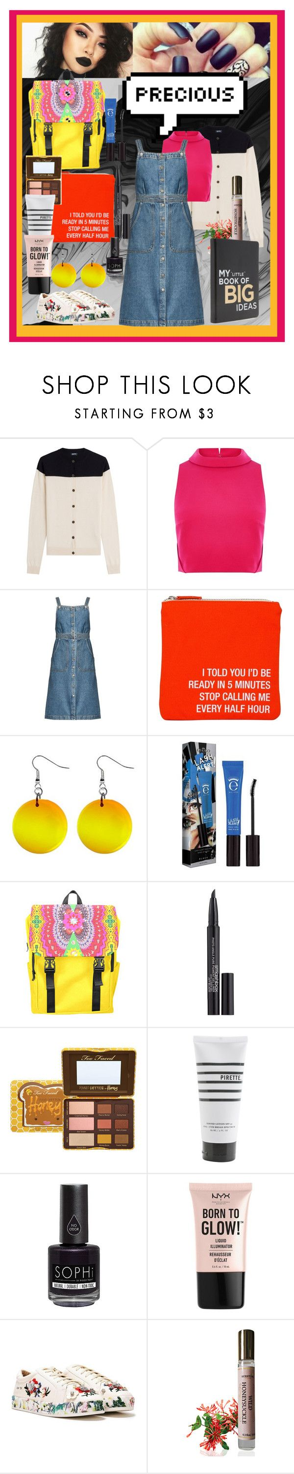"""""""Precious"""" by dudettelucy ❤ liked on Polyvore featuring Jil Sander Navy, Coast, M.i.h Jeans, About Face Designs, Eyeko, Smashbox, Pirette, Piggy Paint, NYX and Nasty Gal"""