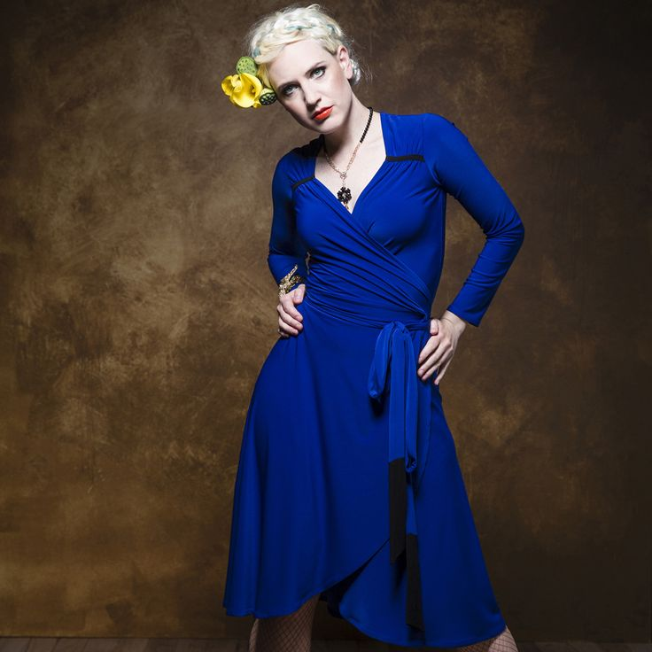 The Hyacinth Wrap Dress with its sweetheart neckline, contrast tabs and tie ends is a striking dress that will most certainly turn heads.This is a limited edition.  Purchase: http://sprinkleemporium.bigcartel.com/product/hyacinth-wrap-dress