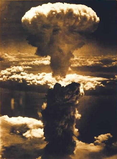 """Hiroshima - On Monday, August 6, 1945, at 8:15 a.m., the nuclear bomb """"Little Boy"""" was dropped on Hiroshima by an American B-29 bomber, the Enola Gay, flown by Colonel Paul Tibbets, directly killing an estimated 80,000 people. By the end of the year, injury and radiation brought the total number of deaths to 90,000–166,000. The population before the bombing was around 340,000 to 350,000. About 70% of the city's buildings were destroyed, and another 7% severely damaged."""