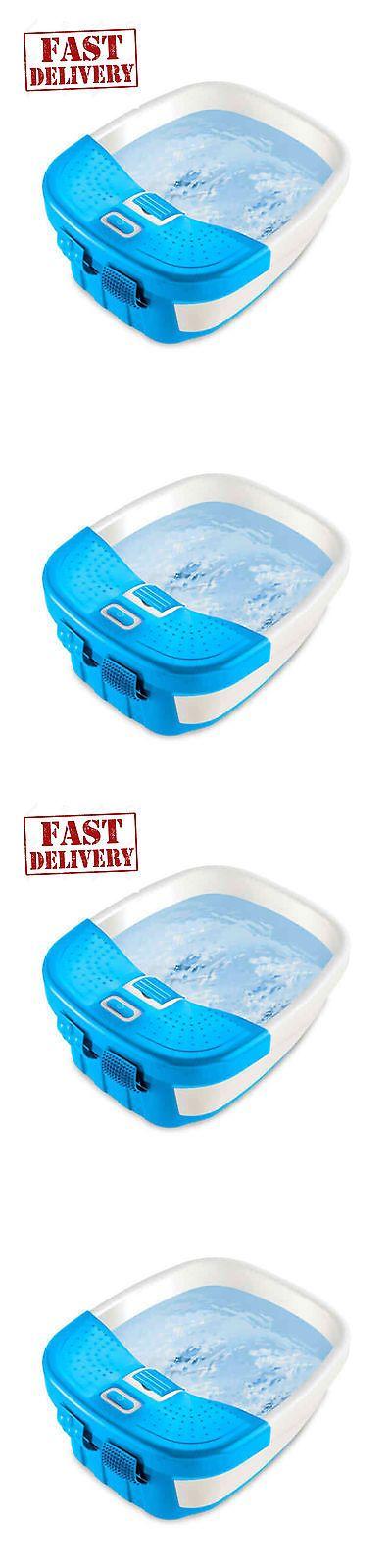Massagers: Foot Spa Massager Heat Massage Bubbles Bath Waterfall Feet Water Relax Pedicure BUY IT NOW ONLY: $34.75