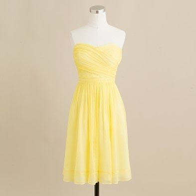 pale yellow bridesmaid's dresses