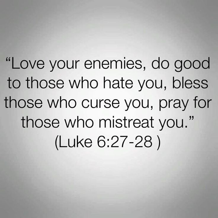 Bible Quotes Enemies: But Feed Them With A Long Handled Spoon...
