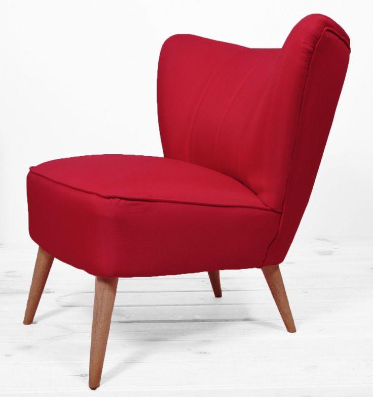 fotel klubowy red