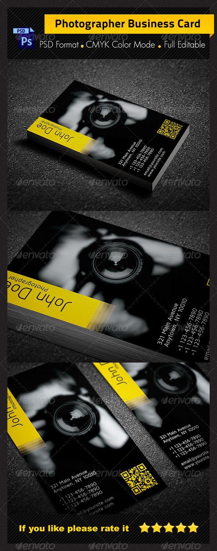 photographer business card design - #graphic #design