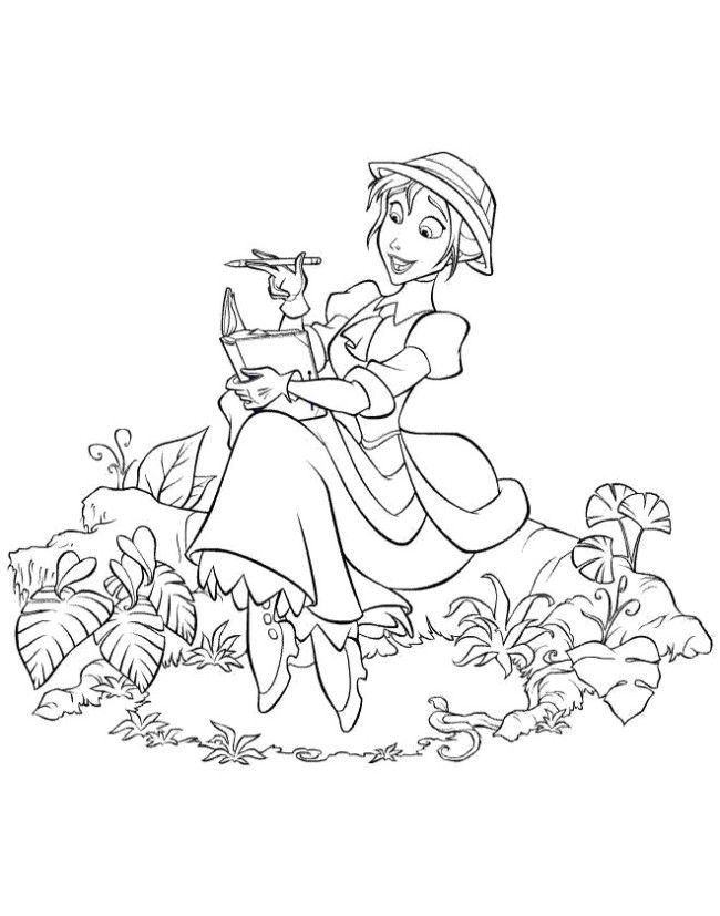 cartoon tarzan disney coloring pictures
