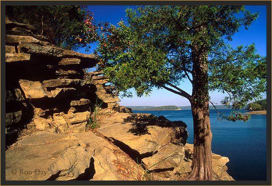 cedar bluff on Lake Tenkiller near Tahlequah, Oklahoma ...