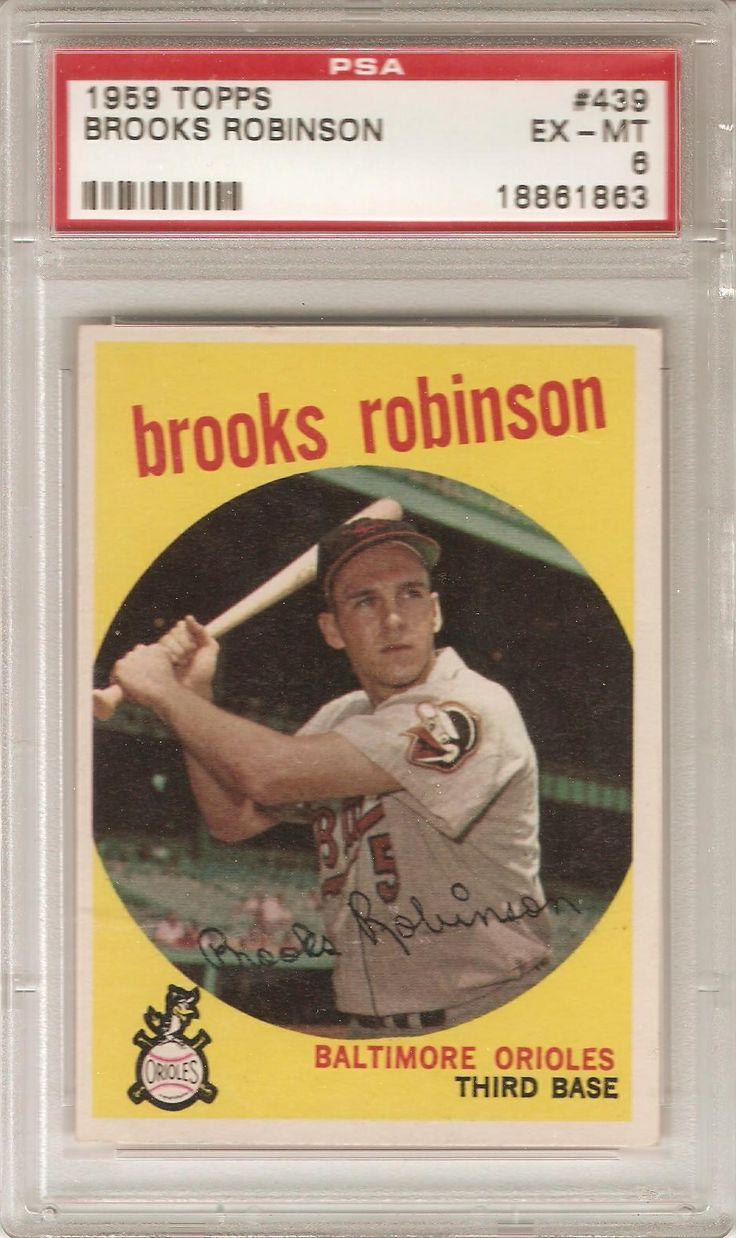 1959 topps brooks robinson baseball card values