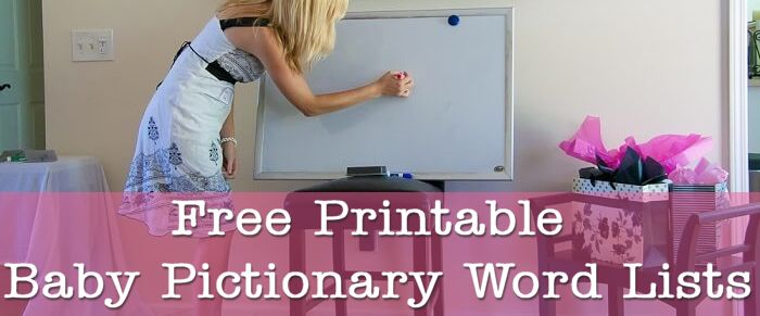 Baby Shower Games - Printable Baby Pictionary Word Lists