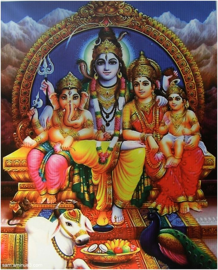 Image result for picture of lord shiva's family