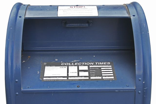 The best way to send a check by mail is to take it to a post office. If using a blue box, check collection times so your letter doesn't sit out overnight.