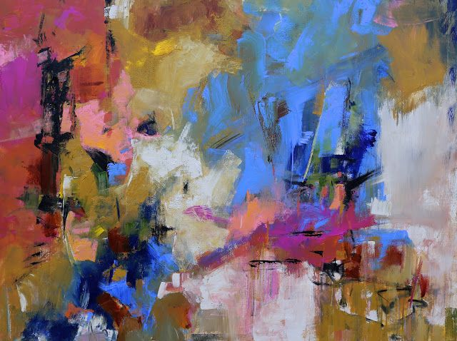 """Modern Abstract Painting """"Marvel"""" by Elizabeth Chapman"""