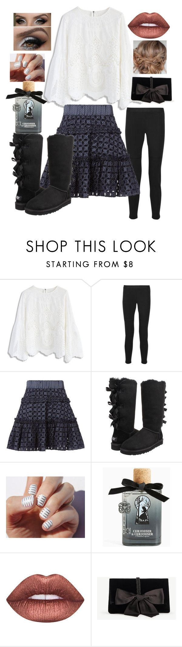 """""""Feminine and Pretty"""" by snowflakeunique ❤ liked on Polyvore featuring Chicwish, 10 Crosby Derek Lam, Alexis, UGG Australia, SoGloss, Torrid, Lime Crime and Ann Taylor"""