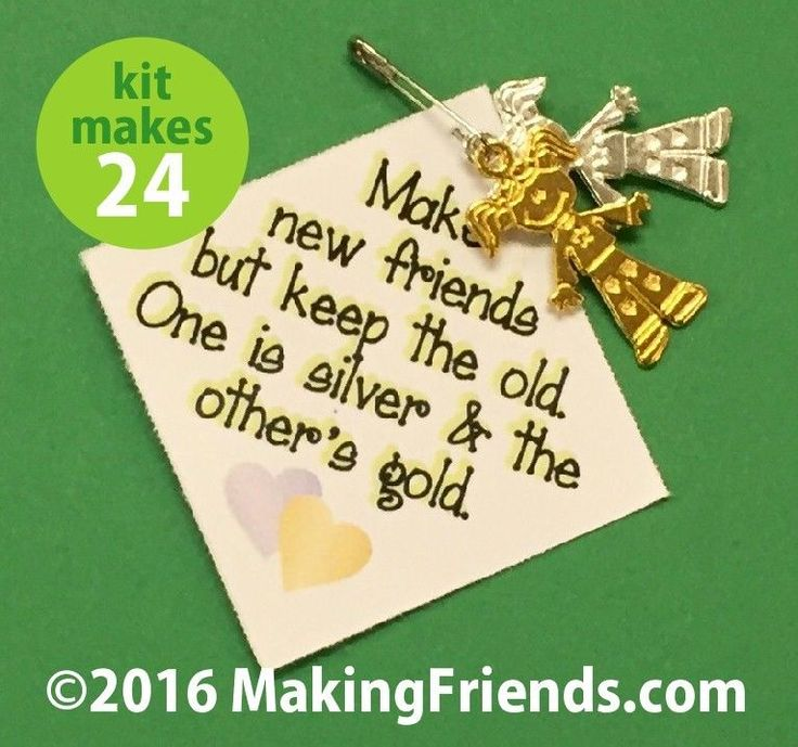 """Girl Scout Swaps Craft Kit """"Make New Friends"""""""