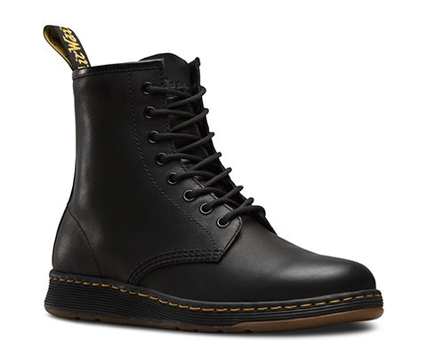 Introducing an iconic Dr. Martens style for the new generation: The Newton. It's got all the same attitude of the 1460—but with a new style. The original 8-eye boot's essential DNA remains, like yellow stitching, grooved sides, and heel loop. But the Newton is an evolution, with a modern, sleek silhouette—and without a third of the weight. And just like that, a new icon of rebellious self-expression is born. The Newton's 8-eye unisex boot is made with a lightweight, Phylon midsole, and a…