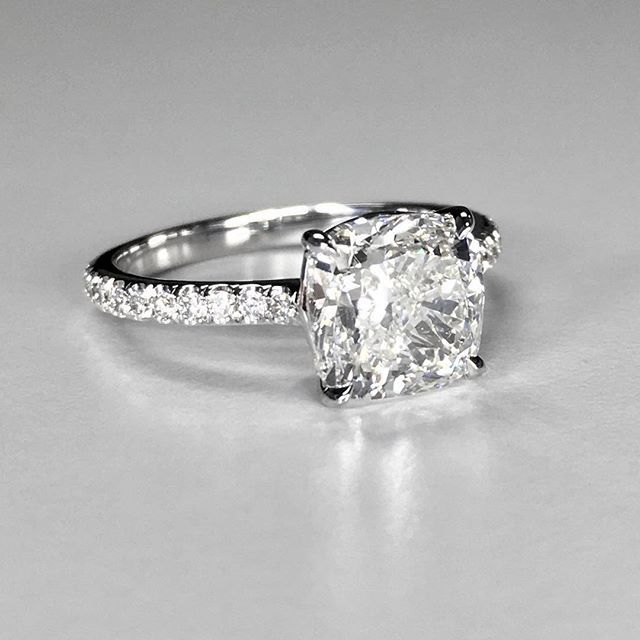"""""""I've been buying diamonds from Ardem and Cynthia for over 15 years. I recently had my wife's engagement ring reset for our anniversary and we couldn't be happier - they are the the most personal and reasonable diamond dealers I have ever met. I have recommended them to my family and friends and they all agree they are the best.  This ring is spectacular - thank you!"""" -Chris H."""