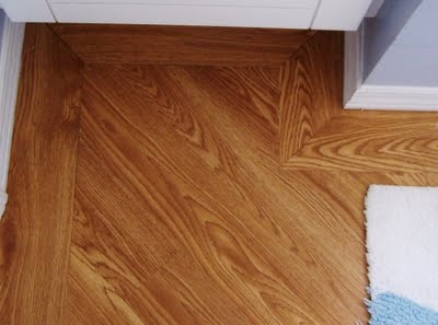 Angled laminate flooring with border nice look for the for Hardwood floors 45 degree angle