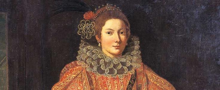 B. Castello - Ritratto di donna in abito rosso