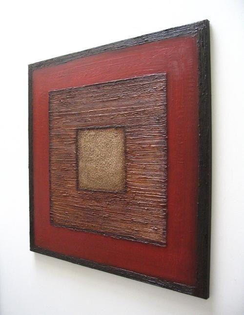 peinture abstraite textur d coration murale moderne 36 x art pinterest arte de pared. Black Bedroom Furniture Sets. Home Design Ideas