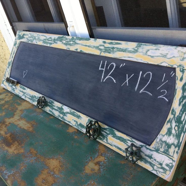 Large Framed Chalkboard Distressed Green Farmhouse Garden Hose Turn Knobs | eBay