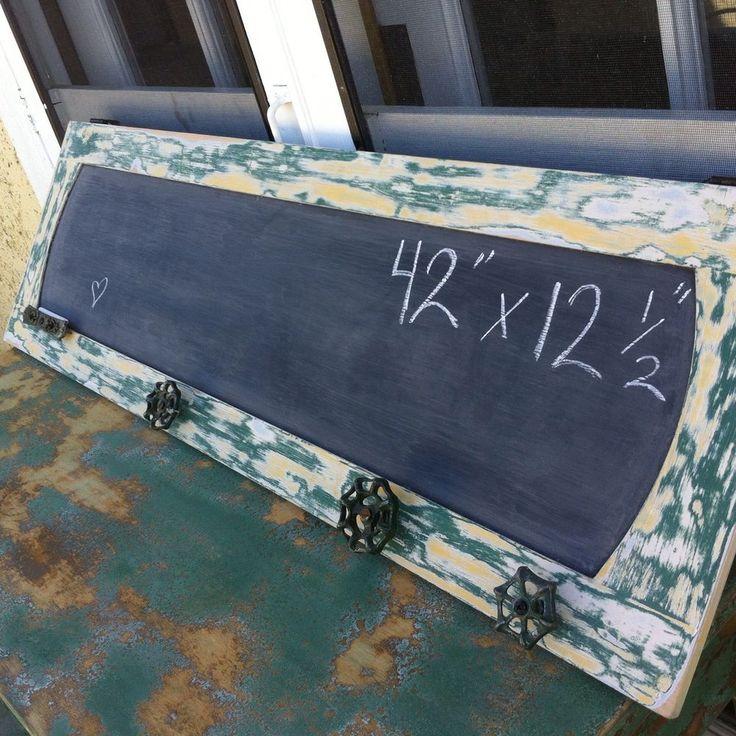Large Framed Chalkboard Distressed Green Farmhouse Garden Hose Turn Knobs | eBay