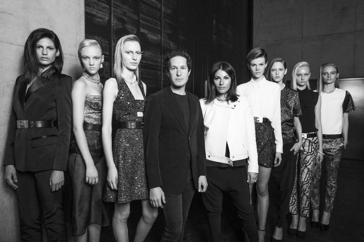 Camilla and Marc backstage with the models