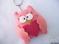 ..: Feltro Coruja, Coruja De, Corujas De, Felts, Owl, Craft Blackboard, All, Decorativo Fieltro, Corujinha Pink