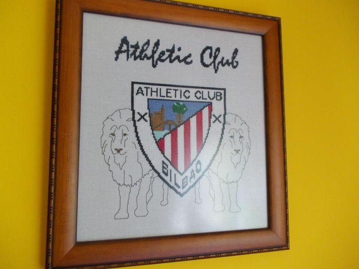 Escudo del Athletic Club de Bilbao,hecho por mi(Rosario Bellón)