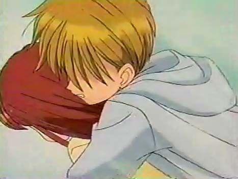 Akito saves Sana from a car
