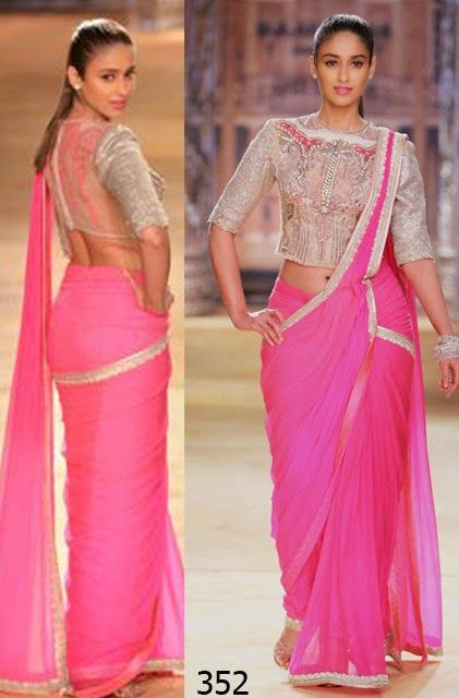 Buy ileana d'cruz pink georgette bollywood saree with price of Rs 1700/-  Product Type: Bollywood Sarees  Color: Saree - Pink, Blouse - Silver Fabric: Saree : Georgette Blouse : Raw Silk & Net Occasion: Party For Order whatsapp us at +91-9311187463 or you can also Visit our website : http://www.suit-sarees.com
