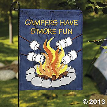 Camping Campers Have Smore Fun Mini Garden Flag Decor