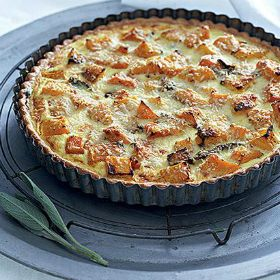 Roast buttenut quiche