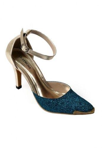 Jual sepatu wanita murah dan berkualitas: CLAYMORE High Heels MZ - 018 Blue Gold