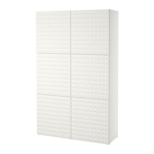 BESTÅ Opberger met deuren, Djupviken wit Djupviken wit 120x40x192 cm -