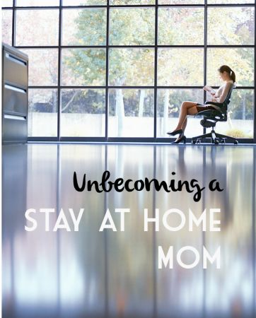 one woman's perspective on returning to work outside the home.