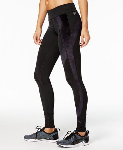 45385904b68968 Puma Explosive Velvet Leggings - Pants - Women - Macy's   Active ...