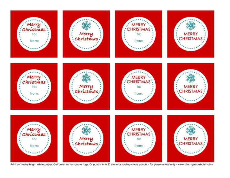 64 best printable christmas gift tags images on pinterest free printable christmas gift tags negle Image collections