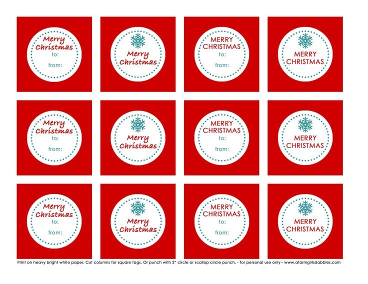 printable christmas gift tags - Free Printables For Christmas