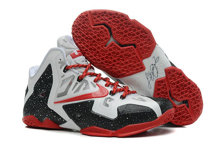 quality design cd34a 5768e LeBron 11 ID Heat Home White Red Black