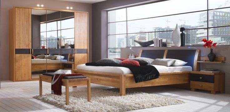 Elegant Schlafzimmer Massivholz Schrank Bett Erle massiv Rhoda yatego uac Schlafzimmer Pinterest Owl
