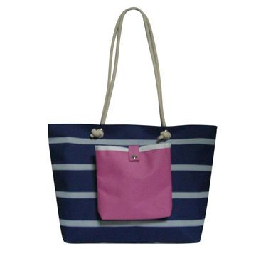 PVC Women Beach Bag with Front Pocket