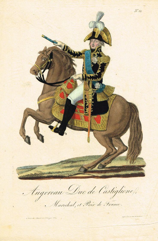 AUGEREAU - Duc de Castiglione - Maréchal et Pair de France - à Paris chez Basset