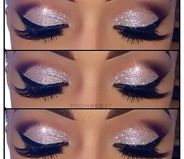 Here is a really nice make up of the day look for you guys. It is a really pretty pink sparkle shadow with heavy liner and mascara. Check out the source