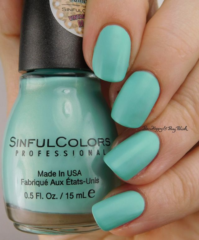 Sinful Colors Mint Chip | Be Happy And Buy Polish https://behappyandbuypolish.com/2017/01/10/sinful-colors-kandee-johnson-nail-polish-collection/