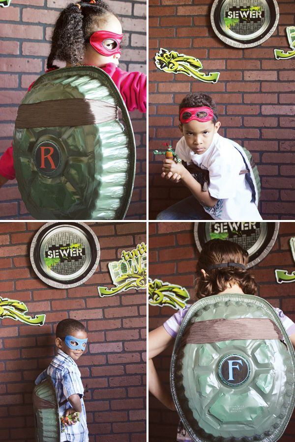 The Look For Less: Teenage Mutant Ninja Turtles Party! Brick graffiti photo backdrop!