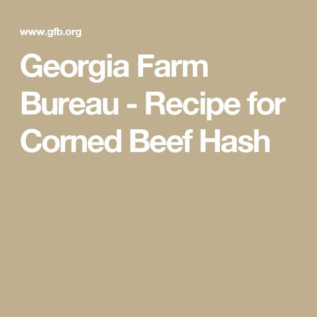 Georgia Farm Bureau - Recipe for Corned Beef Hash