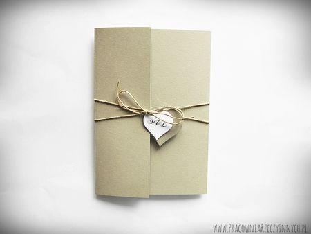 Przewiązywane zaproszenia z eko-papieru